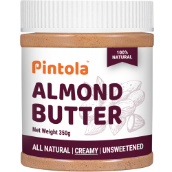 All Natural Almond Butter (350gm) (Creamy)  (Unsweetened)