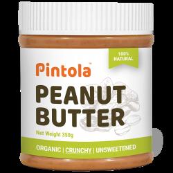 Peanut Butter 350 gms (Organic, Crunchy, Unsweeten