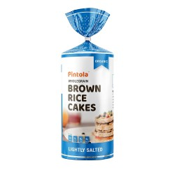 Wholegrain Brown Rice Cakes Lightly Salted 125 gms