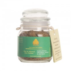 Mint and Almond Skin Polisher Face and Body Scrub