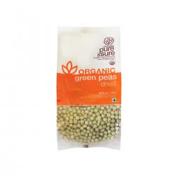 Organic Dried Green Peas (Matar, Vatana) 500 gms