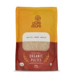 Organic Black Gram (Urad) White Whole 500 gms