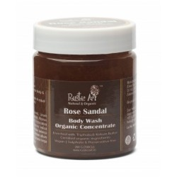 Organic Rose Sandal Body Wash Concentrate 200 gms