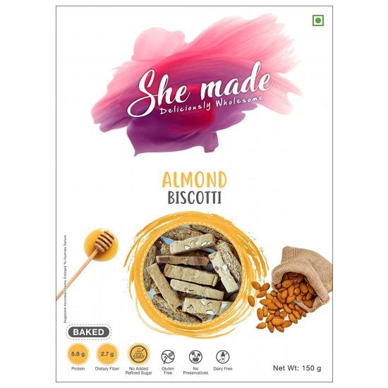 Almond Biscotti 150 gms (Gluten-Free, Dairy-Free)