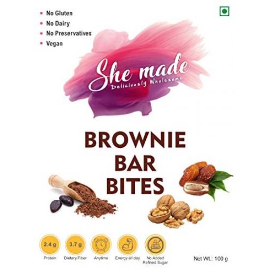 Brownie Bar Bites 100 gms (Gluten-Free, Vegan)