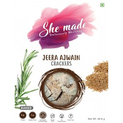 Jeera Ajwain Cracker 150 gms (Gluten-Free, Dairy-F