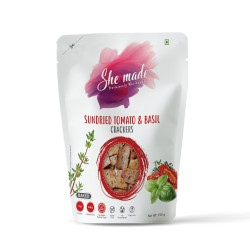 Sundried Tomato and Basil Crackers 150 gms (Gluten
