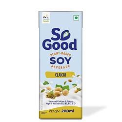 Plant Based Soy Elaichi Milk (Gluten Free) 1L