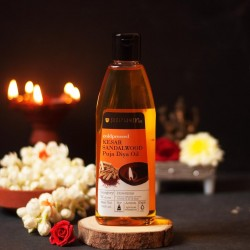 Kesar Sandalwood Puja Diya Oil 225 ml (Vegan)