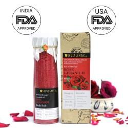 Rose Geranium Bath Salt 500 gms (Vegan)