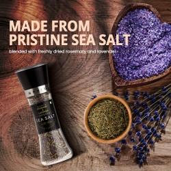 Rosemary and Lavender Infused Sea Salt Gourmet Sea