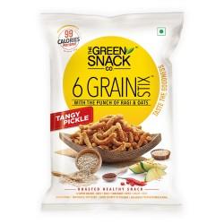 6 Grain Stix Tangy Pickle 25 gms (Gluten-Free, Roa