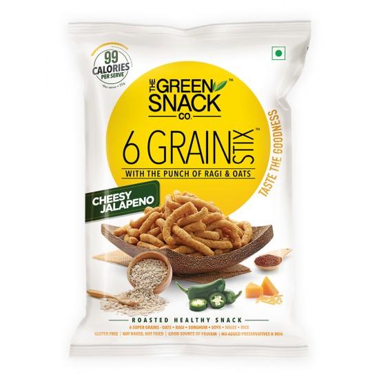 6 Grain Stix Cheesy Jalapeno 85 gms (Gluten-Free, Roasted)