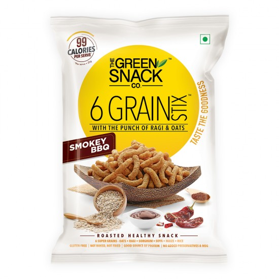 6 Grain Stix Smokey BBQ 25 gms (Gluten-Free, Roasted)