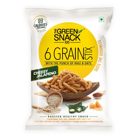 6 Grain Stix Cheesy Jalapeno 25 gms (Gluten-Free, Roasted)