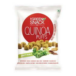 Quinoa Puffs Zesty Kale 50 gms (Gluten-Free, Roast