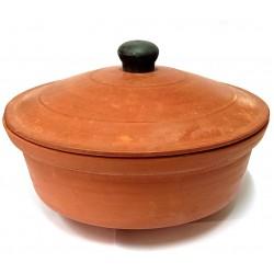 Handmade Clay (Mitti) Handi 10 inches with Lid