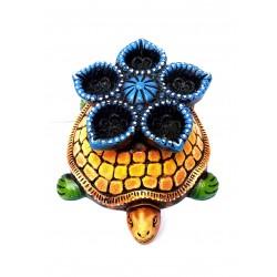 Turtle Shape Handmade Decorative Clay Diya | Deepa