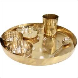 Kansa Bronze Thali Set 5 Pcs Akshaypatra